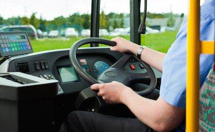 נהג אוטובוס ללא רישיון נהיגה לרכב ציבורי. צילום להמחשה בלבד