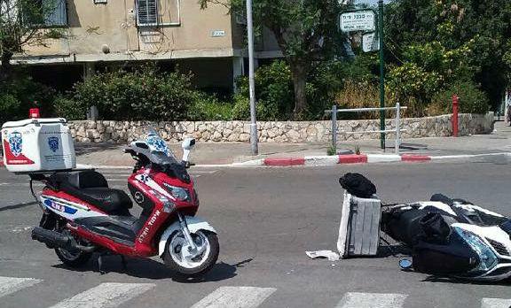 תאונת דרכים עם מעורבות קטנוע ברחוב מבצע סיני בת ים (דוברות הצלה)