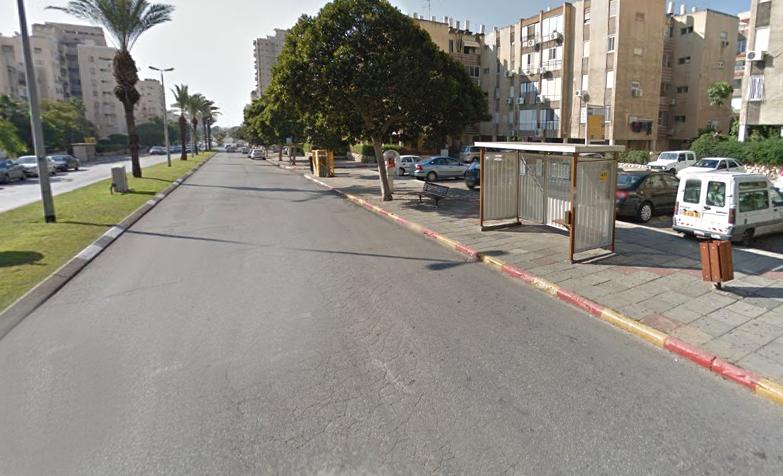 רחוב אנה פרנק בת ים (צילום גוגל)