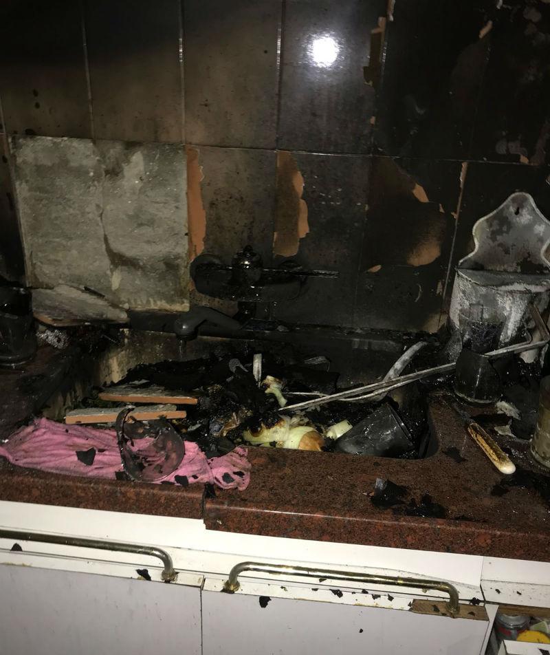 דירתו של טל עמנואל שנשרפה