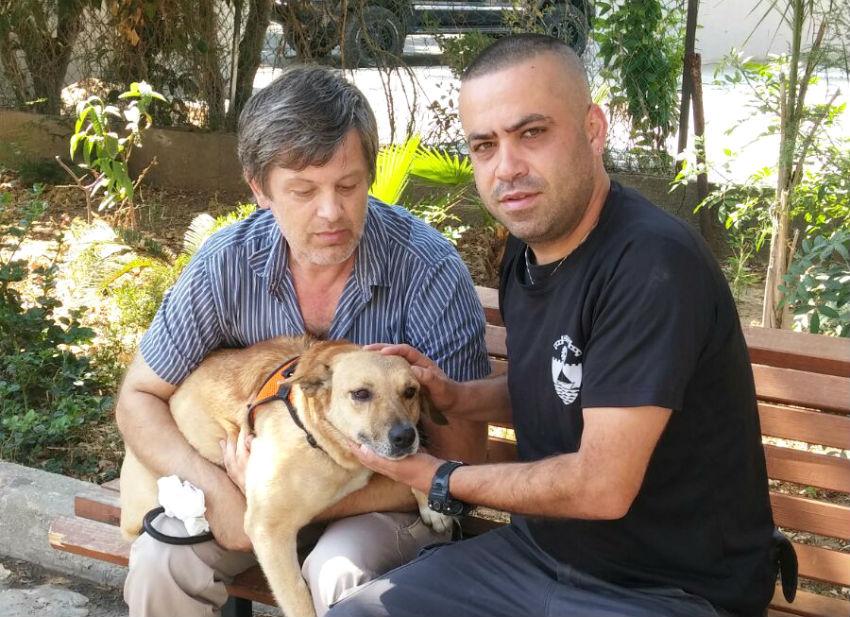 חילוץ כלב על ידי פקחי עיריית בת ים