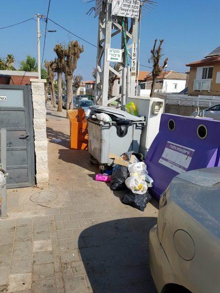 פחי זבל שכונת עמידר בת ים