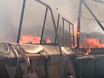 שריפה במתחם הבורסקאי
