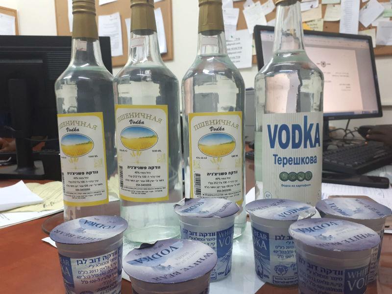אלכוהול מזויף שנתפס בחנות בבת ים