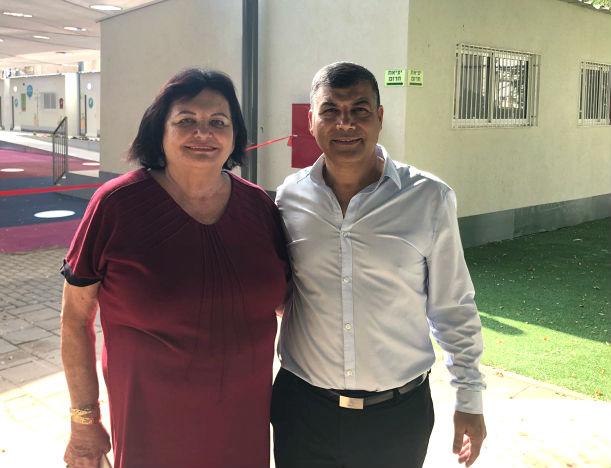 ראש עיריית בת ים יוסי בכר וסגניתו אסתר פירון