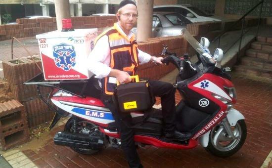 הרב דורפמן, מתנדב באיחוד והצלה אך לא היה בארץ באותו הזמן (צילום: איחוד הצלה)