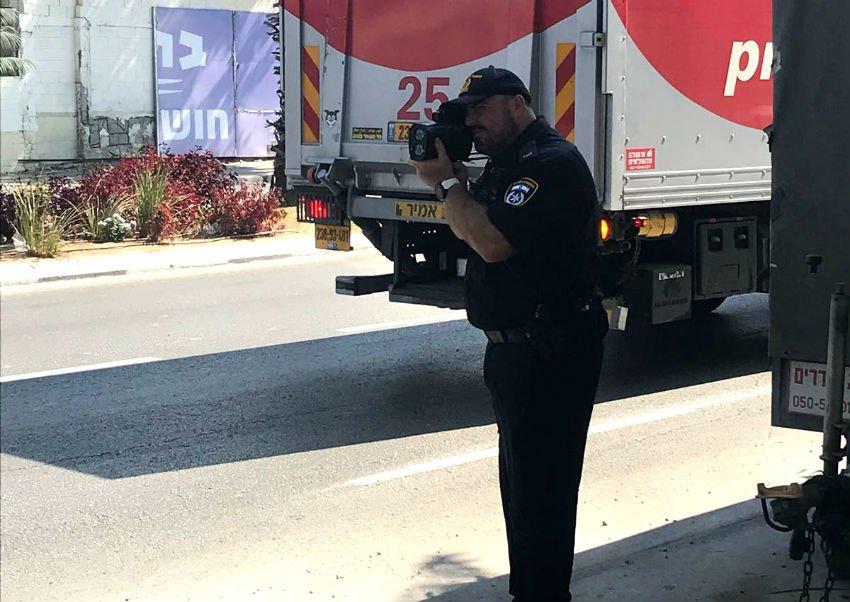 שוטרי משטרת התנועה בפעולה