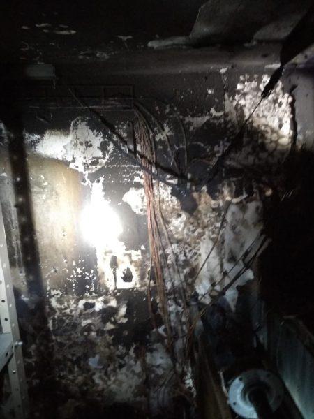מכבי האש ברחוב רביבוניץ' בשריפה