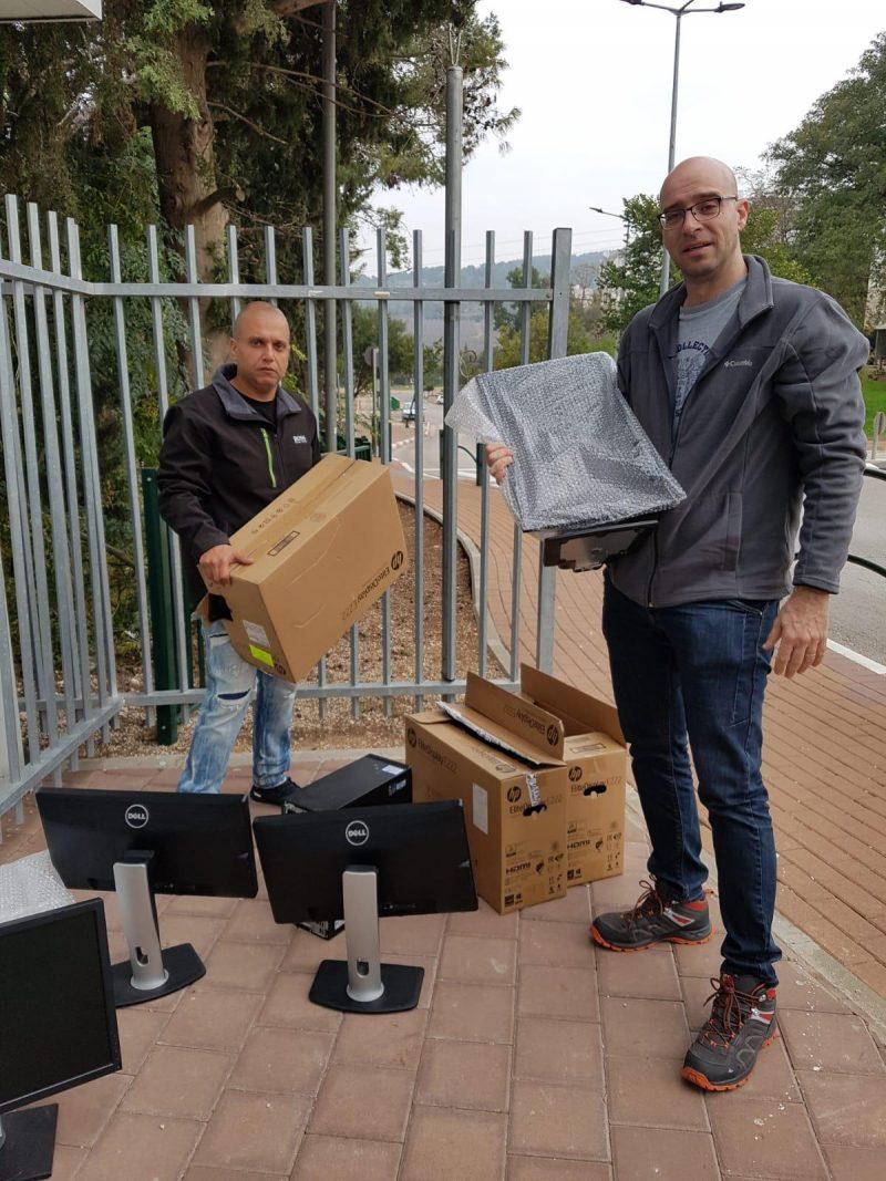אלון אקרמן ושמוליק גורגי אוספים תרומות מחשבים