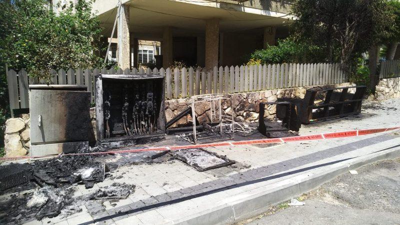 השריפה ברחוב חשמונאים צילום: יורם לוי