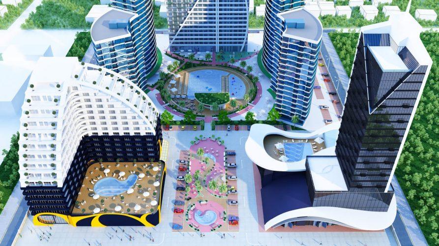 """הפרויקט בבאטומי בבניית חברת """"באטומי 4 יו"""" (צילום: Batumi 4 u - חנן קריכלי)"""