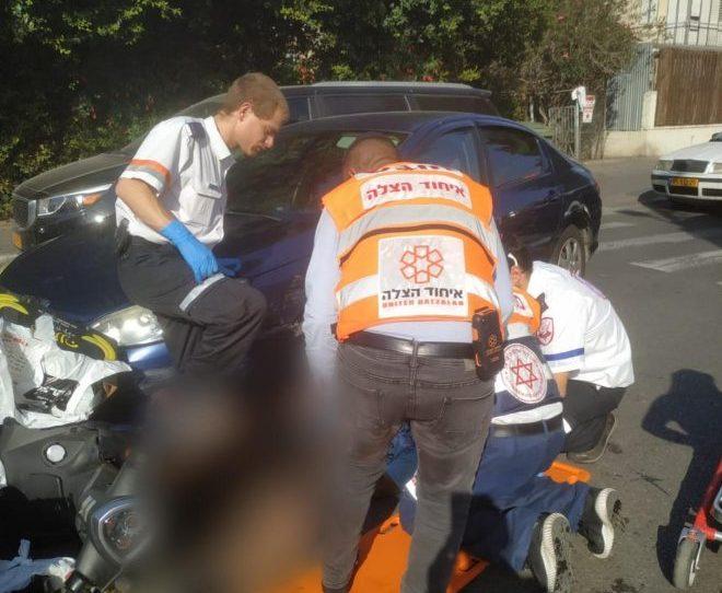 תאונה רוכב אופנוע ברוטשילד