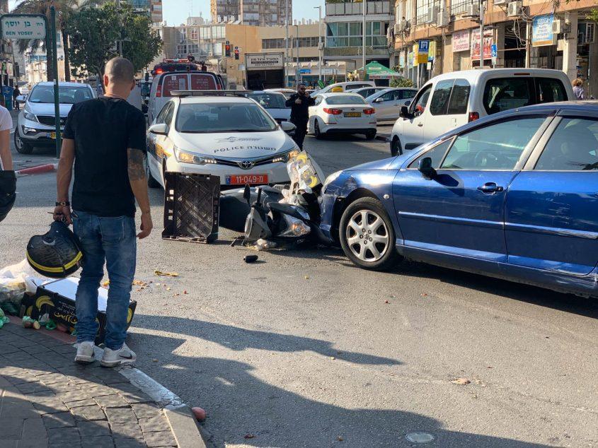 תאונת רוכב אופנוע רחוב רוטשילד