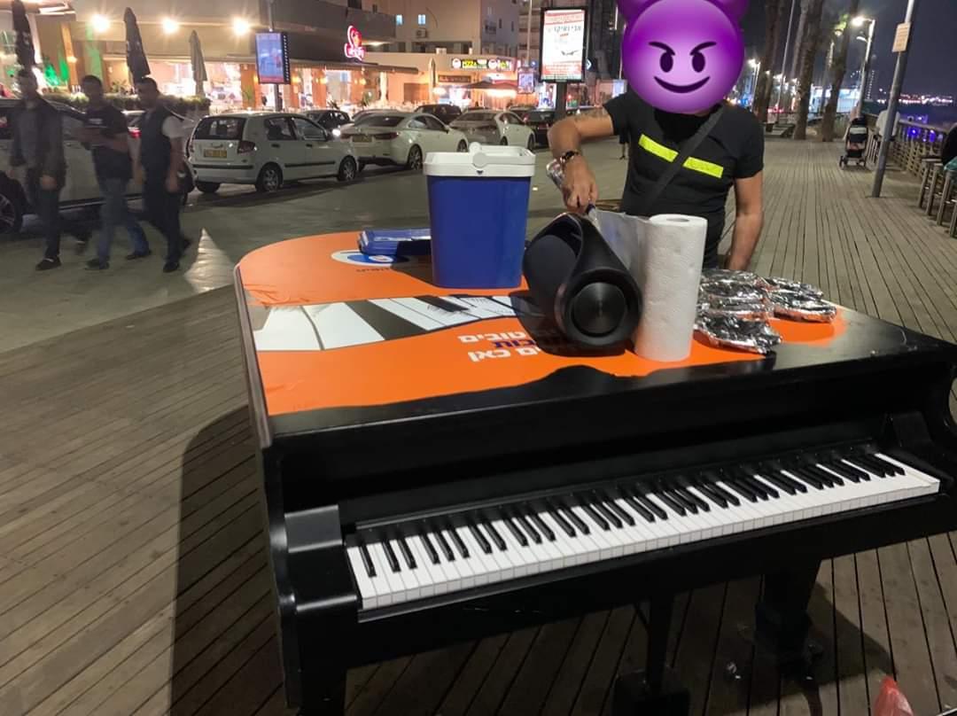 פסנתר כנף טיילת בת ים