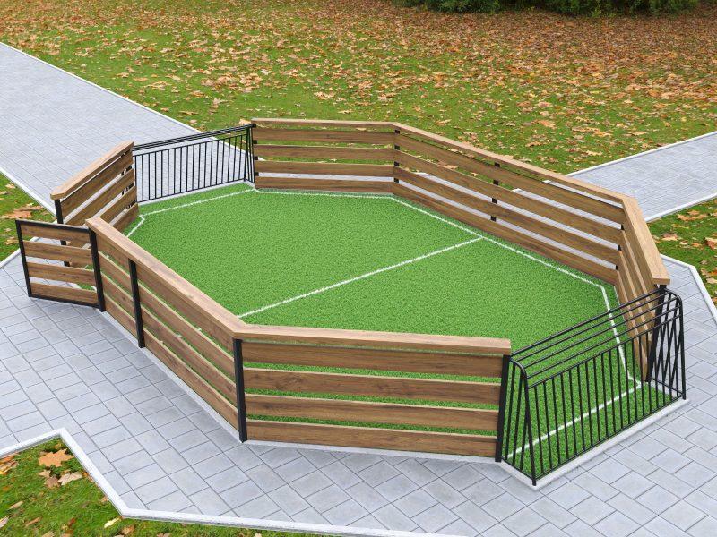 מתקן מיני כדורגל. הדמיה: דשא עוז