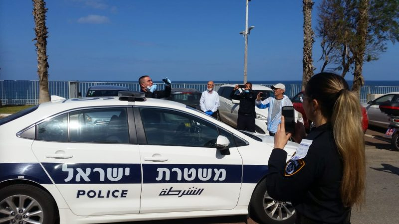 רכב משטרה בבת ים