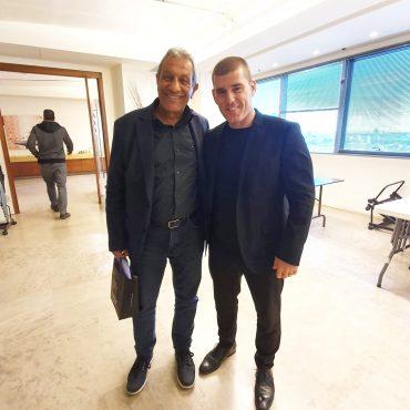 ירון לוי עם ראש עיריית אילת, מאיר כהן הלוי
