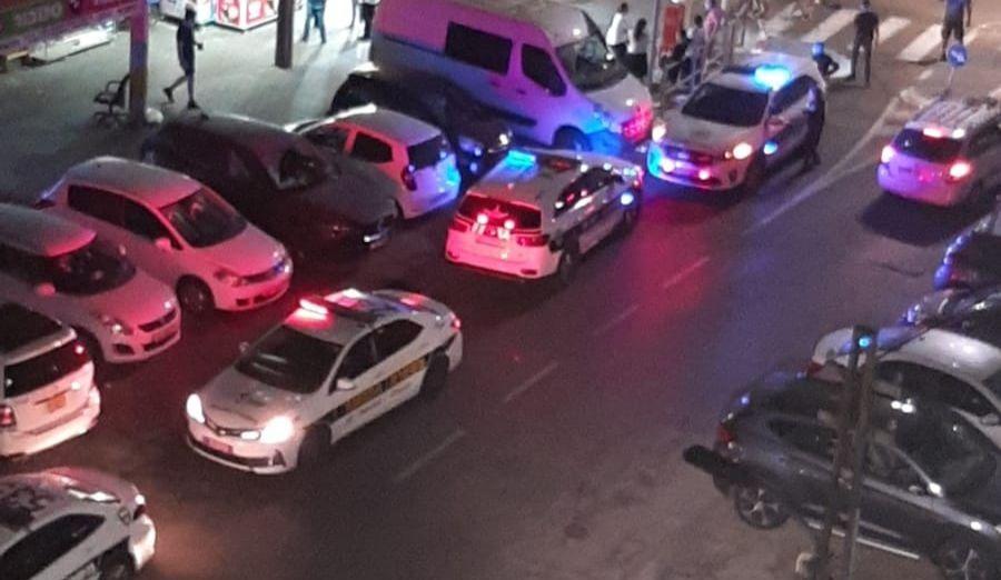 כוחות משטרה בעקבות הירי