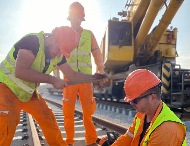 עבודות רכבת ישראל. צילום: רכבת ישראל