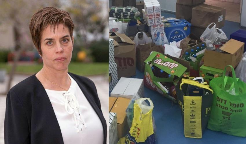 חבילות מזון לניצולי שואה (צילום: קטי מגדיש ואלרואי אבנר)